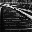 Black and white photo of old rail - Zdjcie stockowe