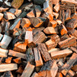 Texture of piled up firewood for winter — стоковое фото #7123406