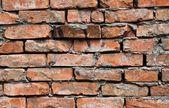 Fundo de parede de tijolo abandonada na construção industrial — Foto Stock