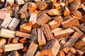 Chopped fire wood ready for winter cold — Stock Photo