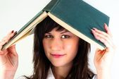Student girl with joyful expression — Stock Photo