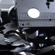 Old VHS tapes ripped apart — Stock Photo