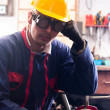 Stockfoto: Industrial worker and his tools
