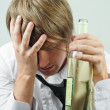 Man with alcohol — Stock Photo