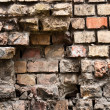 Abandoned brick wall — Stockfoto