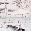 Texture of some construction plans — Stock Photo