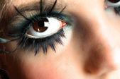 Closeup of an extreme makeup — Stock Photo