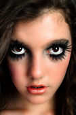 Closeup of a beutiful young girl with great makeup — Stock Photo