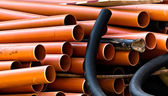 Orange and black pipes — Stock Photo