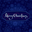 Royalty-Free Stock Vector Image: Merry Christmas hand lettering (vector)