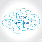 HAPPY NEW YEAR hand lettering (vector) — 图库矢量图片