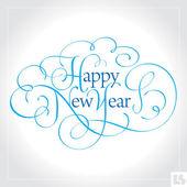 HAPPY NEW YEAR hand lettering (vector) — Stockvector