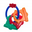 Toys for teething, colorful — Stock Photo