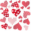 Valentine seamless hearts pattern — Stock Photo #7387580
