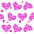 Stock Photo: Valentine seamless hearts pattern