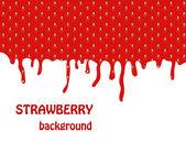 Fresh Strawberry background, Vector Illustration — Stock Photo