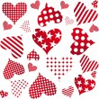 Valentine seamless hearts pattern — Stock Photo #7718110