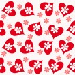 Valentine seamless hearts pattern — Stock Photo