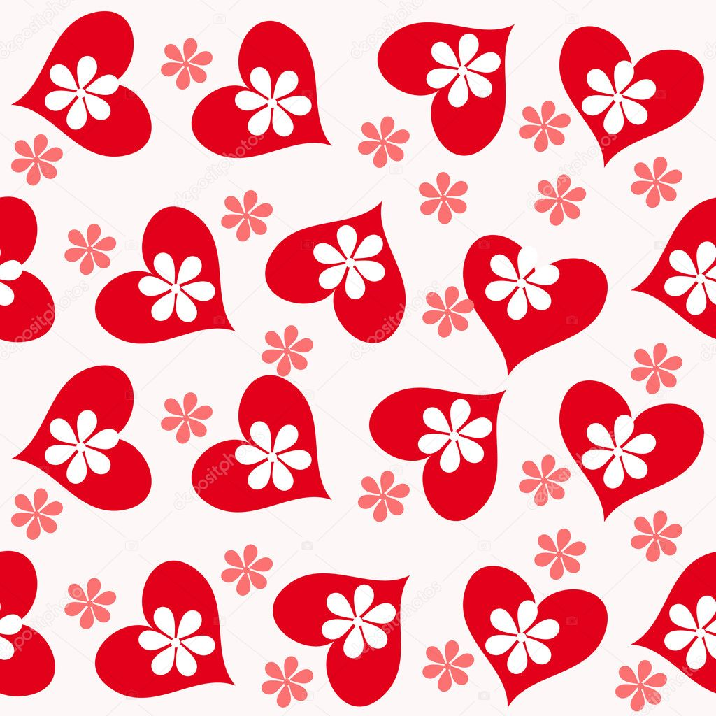 Valentine seamless hearts pattern — Stock Photo #7718142