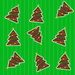 Seamless christmas pattern with tree. Vector illustration — Stock Photo