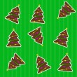 Seamless christmas pattern with tree. Vector illustration - Foto Stock