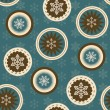 Vector seamless christmas background - 