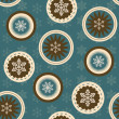Vector seamless christmas background - Foto Stock
