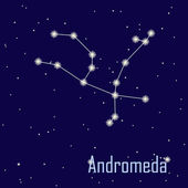 "The constellation "" Andromeda"" star in the night sky. Vector ill — Stock Photo"