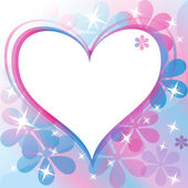 Beautiful Abstract Background with Heart Silhouette. Vector illu — Stock Photo