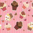 Seamless cake pattern. Vector illustration — Stock Photo #7902229