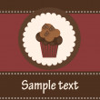 Card with a cupcake. vector illustration — ストック写真