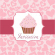Cupcake invitation background — Stock Photo #7911142
