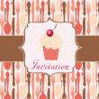Cupcake invitation background — Stock Photo #7911257