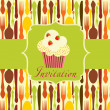 Cupcake invitation background — Stock Photo #7911274