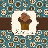 Cupcake invitation background — Stock Photo