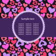 Hearts Background Vector ith sample text - Stok fotoğraf