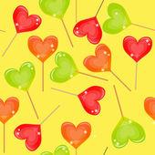 Nahtlose hintergrund mit bunten süßigkeiten — Stockfoto