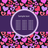 Serce tło wektor ith przykładowy tekst — Zdjęcie stockowe
