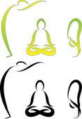 Vector Yoga Asanas 06 — Stock Vector