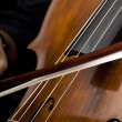 Hands playing cello — Stock Photo #7784571