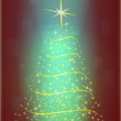 Abstract christmas tree - Stock Photo