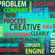 Concept of innovation and creative words - Stock Photo
