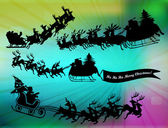Flying santa`s — Stockfoto