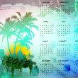 Royalty-Free Stock Photo: 2012 calendar with tropical background