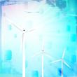 Windmill turbines — Stock Photo
