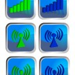 Wireless icon set — Stock Photo