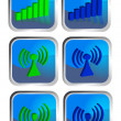 Royalty-Free Stock Photo: Wireless icon set