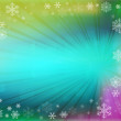 Christmas background with white snowflakes — Stock Photo