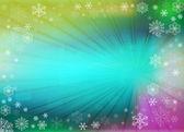 Christmas background with white snowflakes — Stock Photo