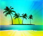 热带背景 — 图库照片